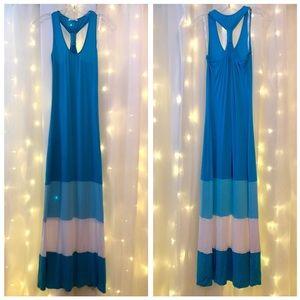 Dresses & Skirts - Calvin Klein Color-block Racerback Maxi Dress